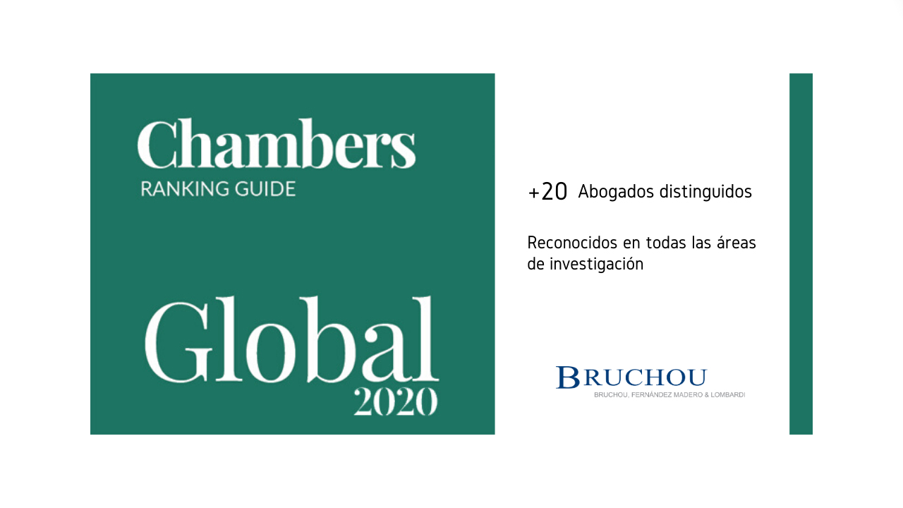 Nueva edición 2020 - Chambers and Partners Global Guide