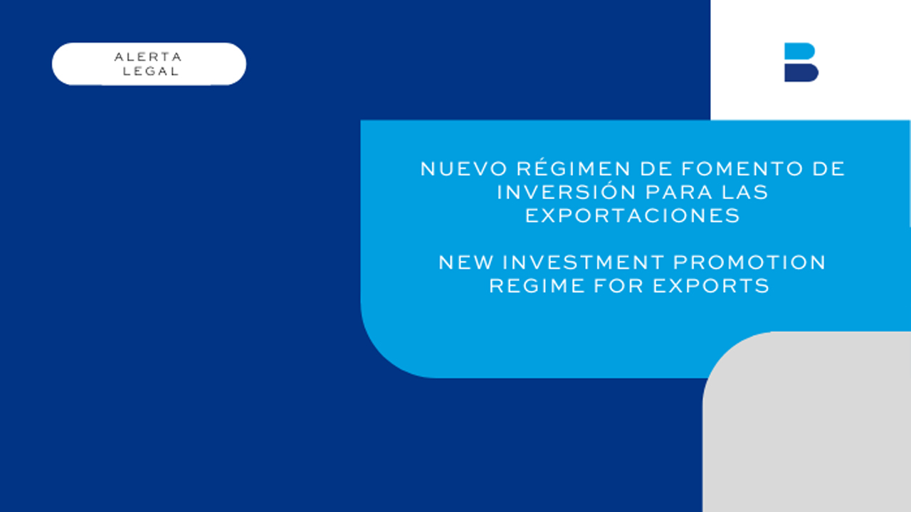 New Investment Promotion Regime for Exports